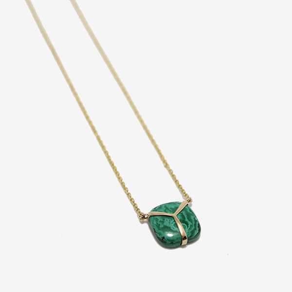 Rachel Atherley Lucky Scarab Malachite Necklace
