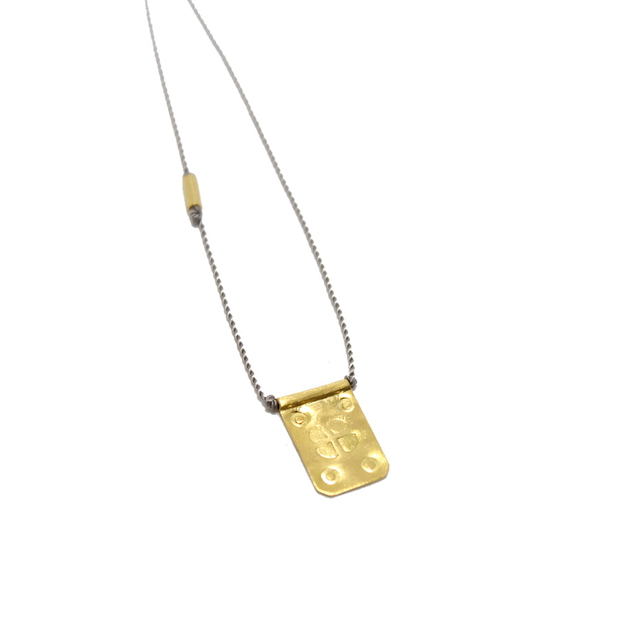 River Song 14k Rectangle Talisman Necklace