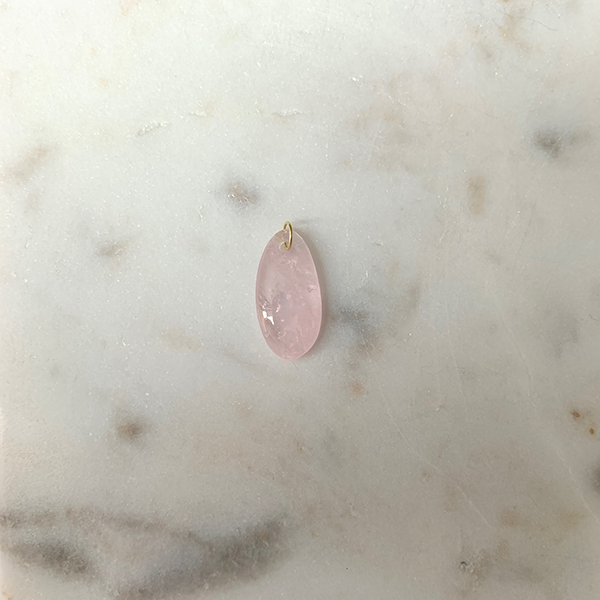 18k Gold + Rose Quartz Charm