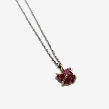 Emilie Shapiro Ruby Crystal Talisman Necklace
