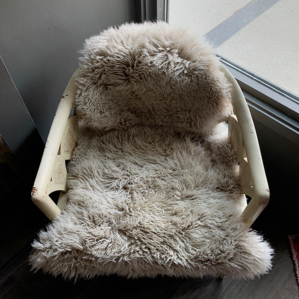 neutral Sheepskin Chair Cover