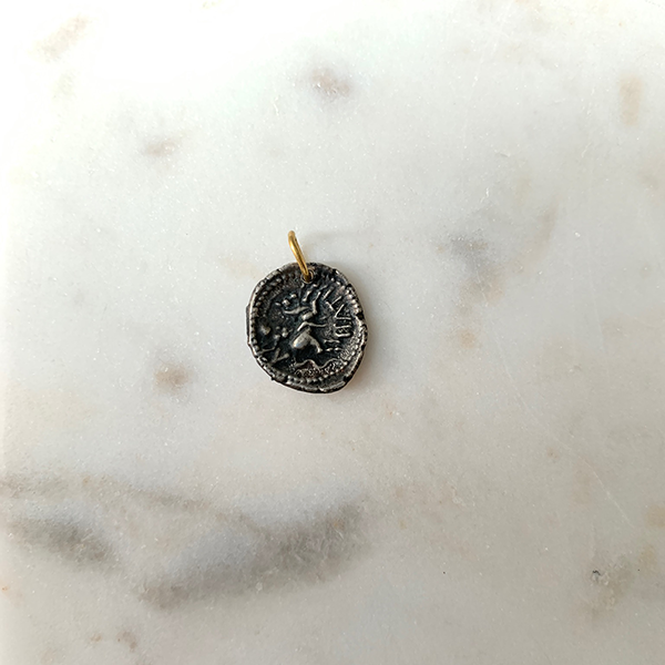 Mixed Metal Coin Charm