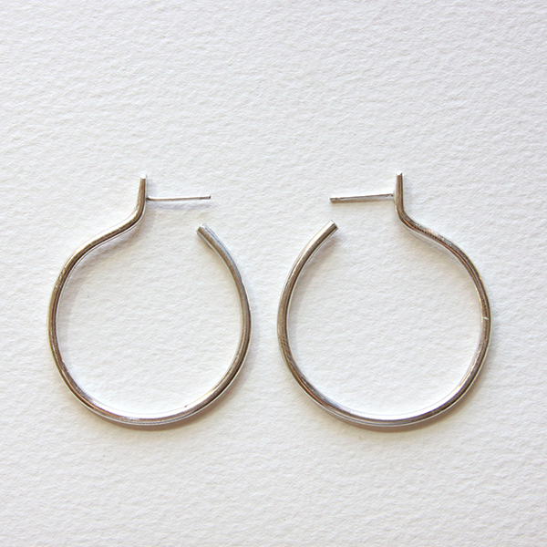 Salt + Still Silver Nimbus Hoop Earrings