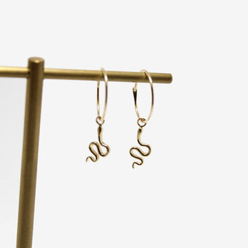 Workhorse Snake Hoop Earrings