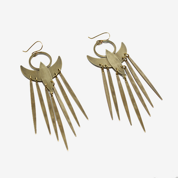Tiny Anvil Small Phoenix Earrings