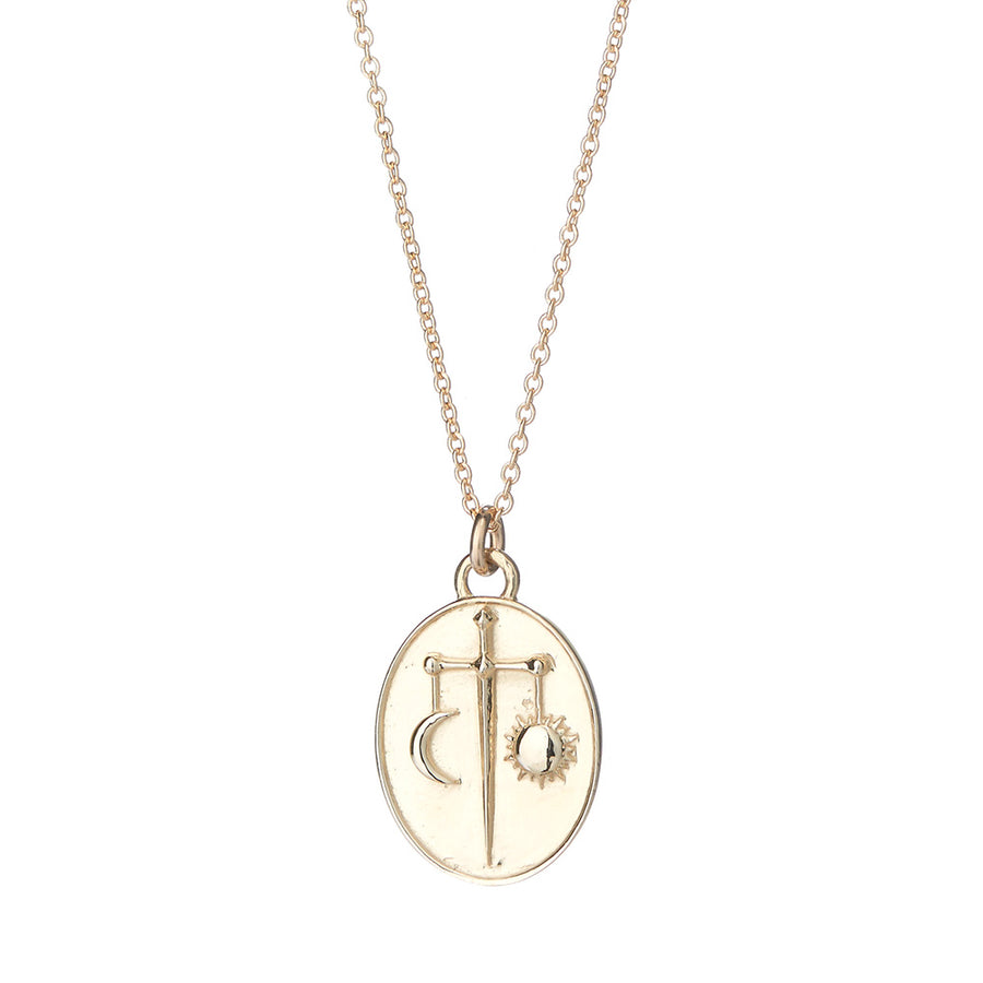 Talon 14k Libra Pendant Necklace
