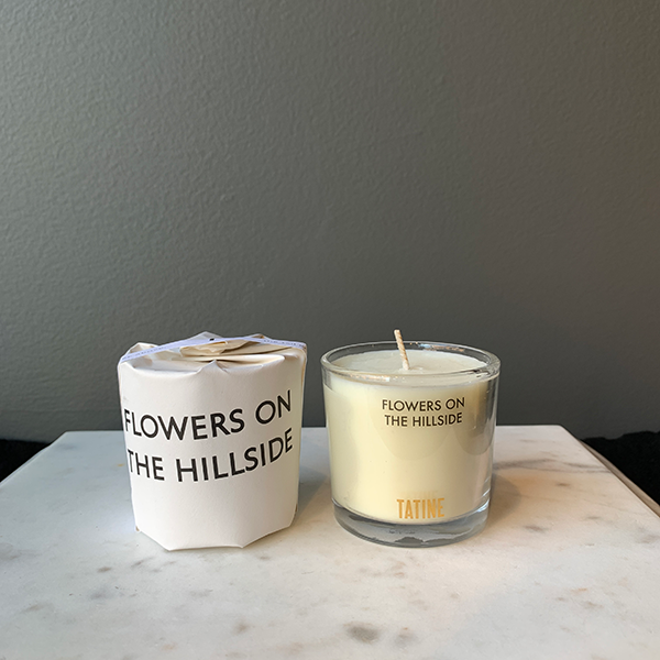 Tatine Flowers on The Hillside Votive Candle