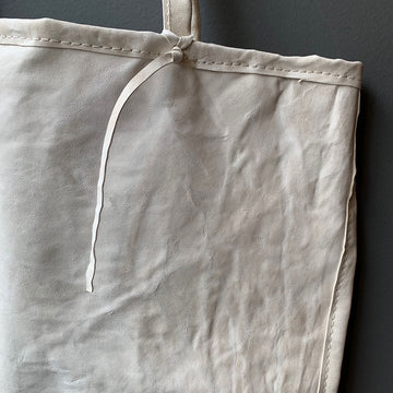 TOTeM Salvaged Large Cream Leather Tote