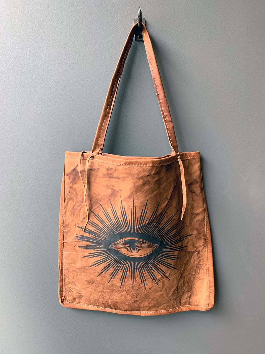 TOTeM Salvaged Leather Eye Tote