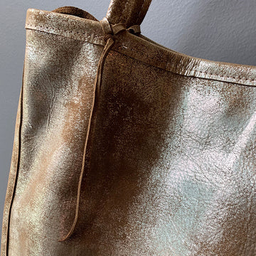 TOTeM Salvaged Metallic Leather Tote