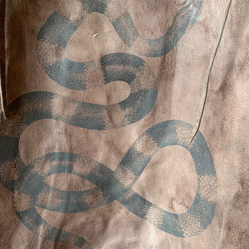 TOTeM Salvaged Leather Snake Tote