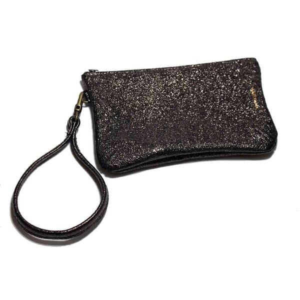 Tracey Tanner Brown Metallic Wristlet