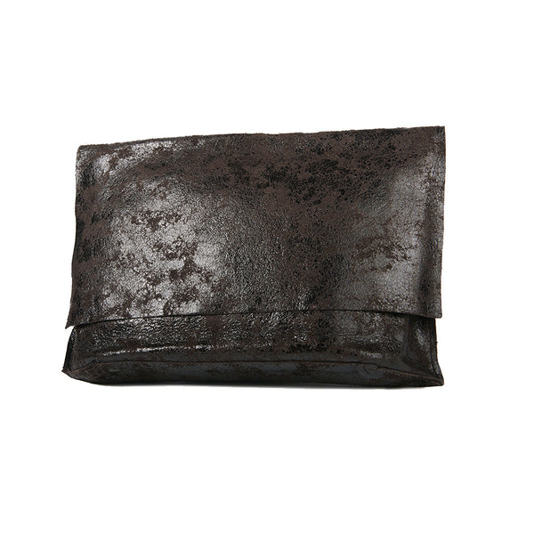 Tracey Tanner Carmen Flap Clutch + Chocolate Distress