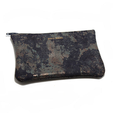 Tracey Tanner Small Flat Zip Pouch - Zinc Oxidize