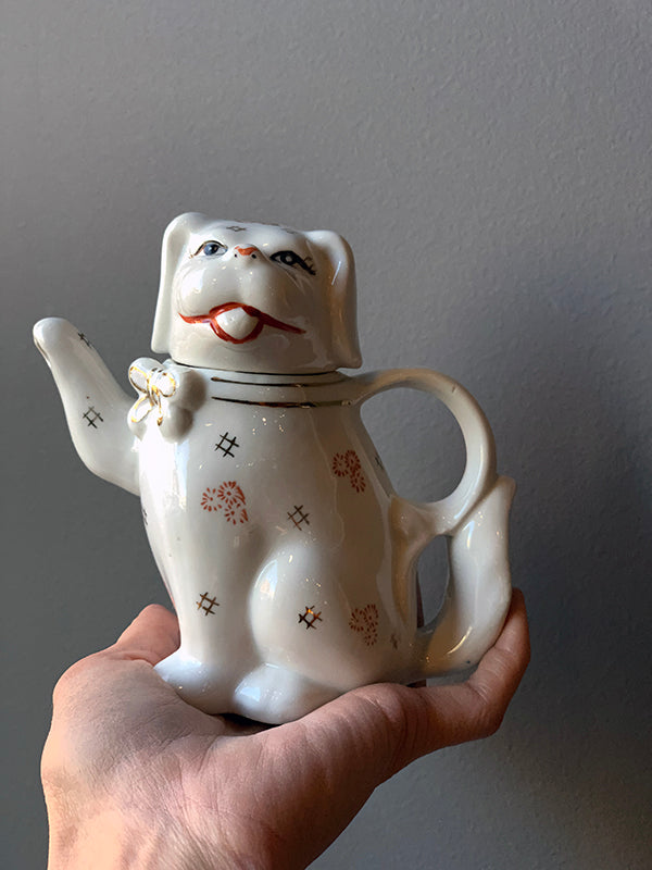 Vintage Cat Tea Pot