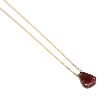 Gem Token Pink Tourmaline Necklace