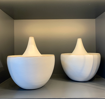 Large White Ceramic Vases