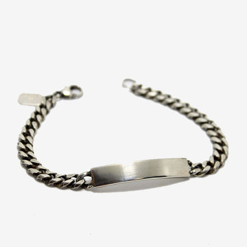 Workhorse Silver ID Bar Bracelet