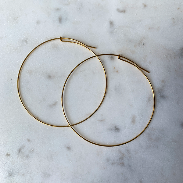 Gem Token XL Gold Infinity Hoops
