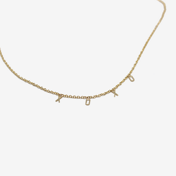 Gem Token 'XOXO' Necklace