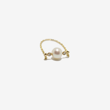 Yi Collection Pearl & Diamond Chain Ring