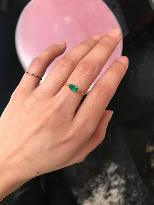 Yi Collection Emerald Marquise Supreme Chain Ring