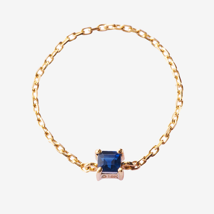 Yi Collection Blue Sapphire Chain Ring