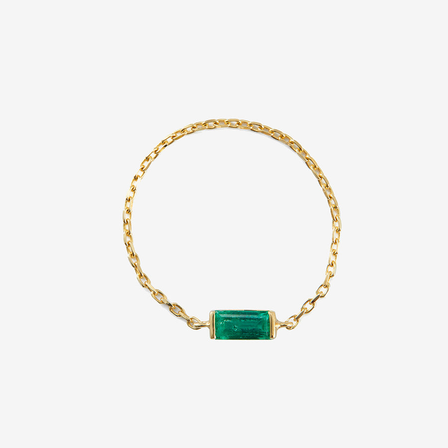 Yi Collection Baguette Emerald Chain Ring