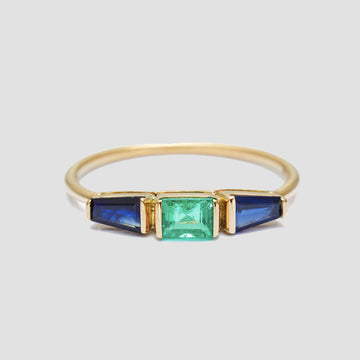 Yi Collection 18k Gold Blue Sapphire & Emerald Triplet Ring