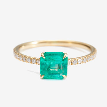 Yi Collection Emerald + Diamond Ring