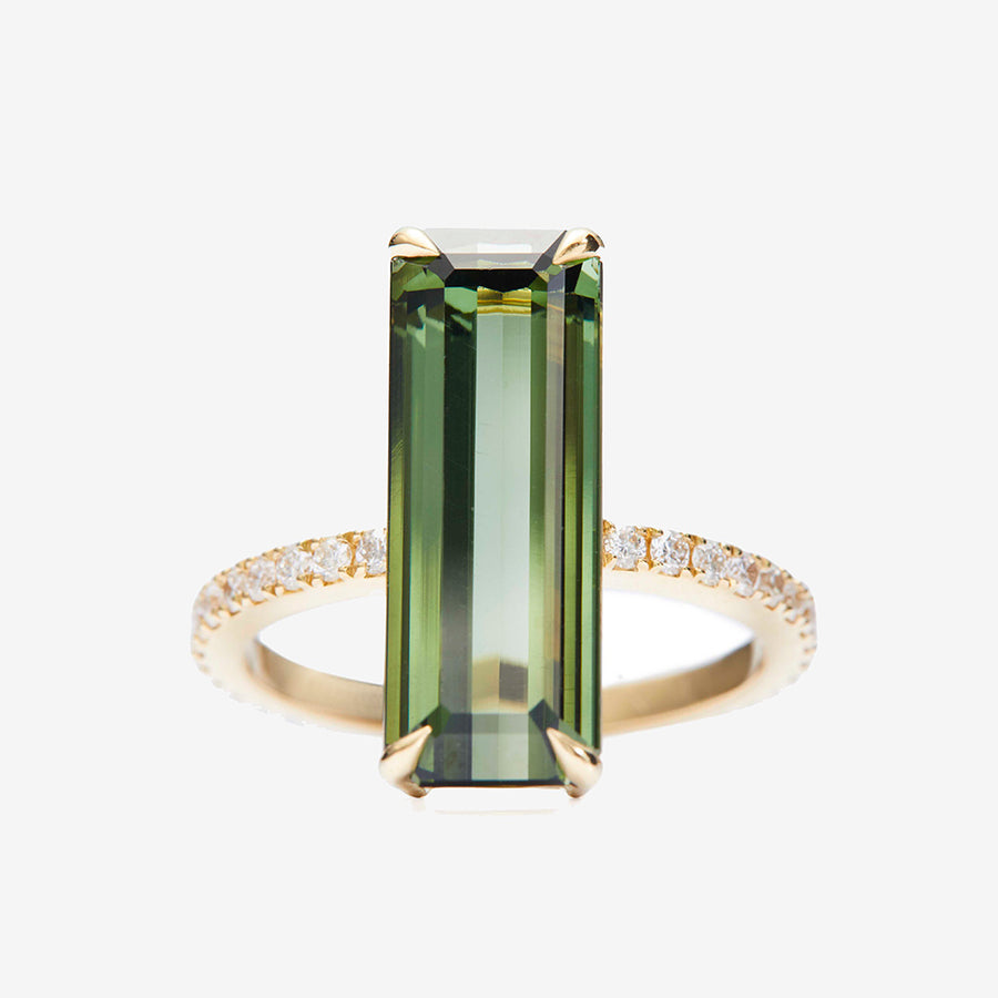 Yi Collection Green Tourmaline + Diamond Ring