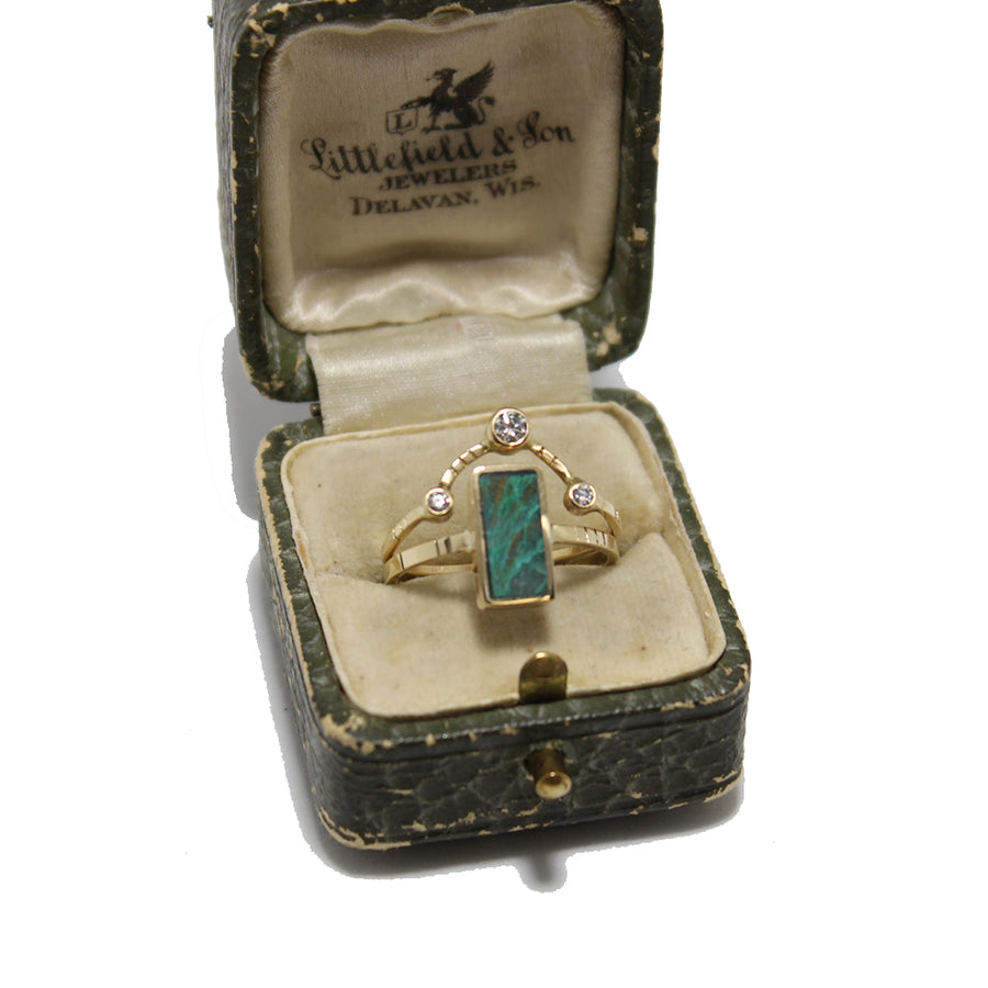 Young in the Mountains Obscura Chrysocolla Ring