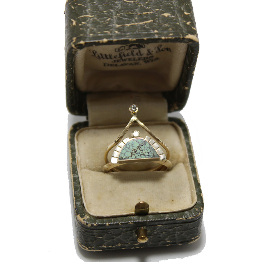 Young in the Mountains 14k Diamond Peak Ring