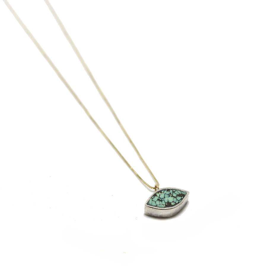 Young in the Mountains Forma Marquise Turquoise Necklace