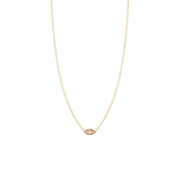 Zoe Chicco 14k Diamond Evil Eye Necklace