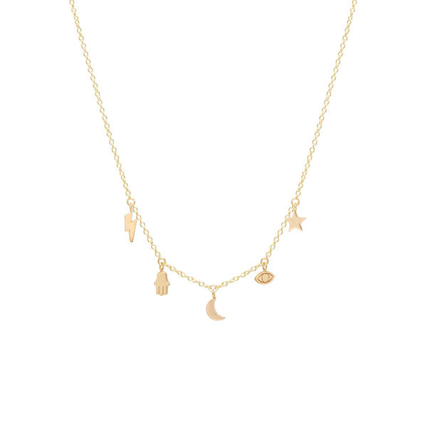 Zoe Chicco 14k Lucky Necklace
