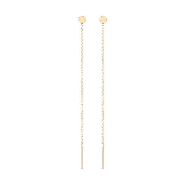 Zoe Chicco Single 14k Disc Threader