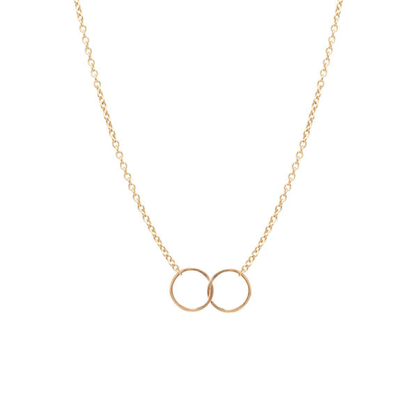 Zoe Chicco 14k Double Circles Necklace