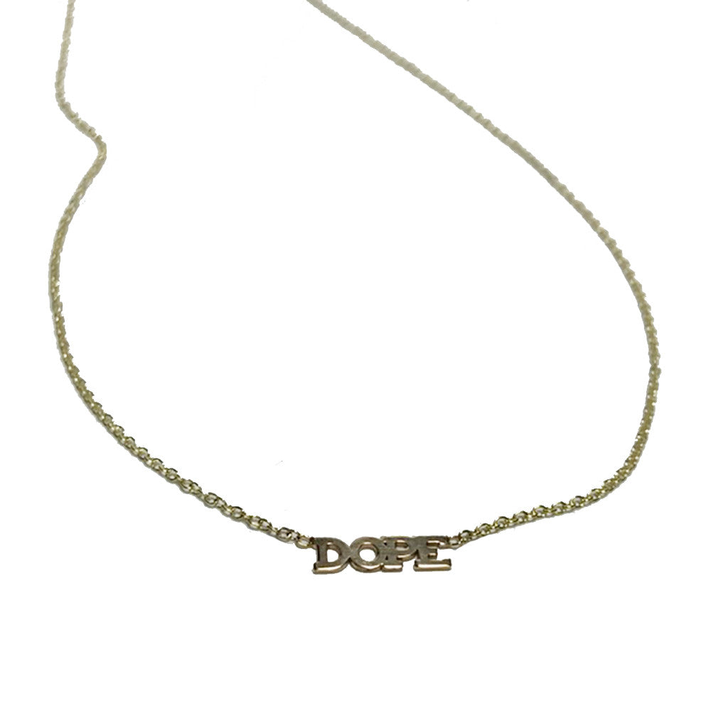 "Zoe Chicco 14k ""DOPE"" Necklace"