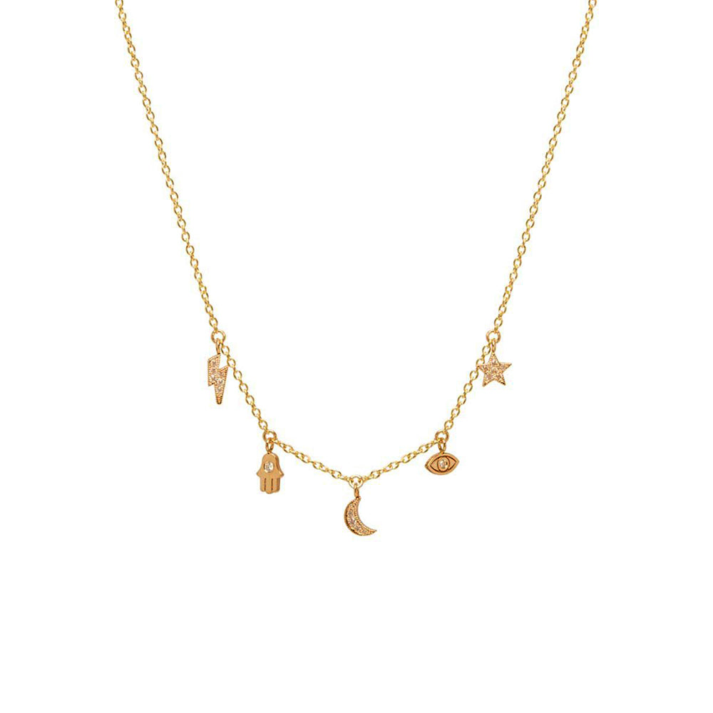 gold naszyjnik us jewellery maria en lucky alicja p necklace