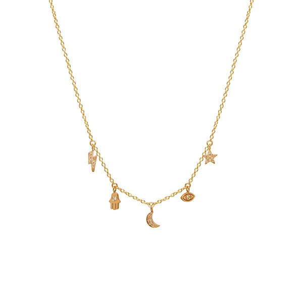 Zoe Chicco 14k Diamond Lucky Necklace