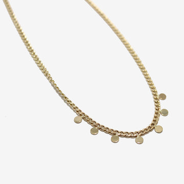 Zoe Chicco 14k Curb Chain Disc Necklace
