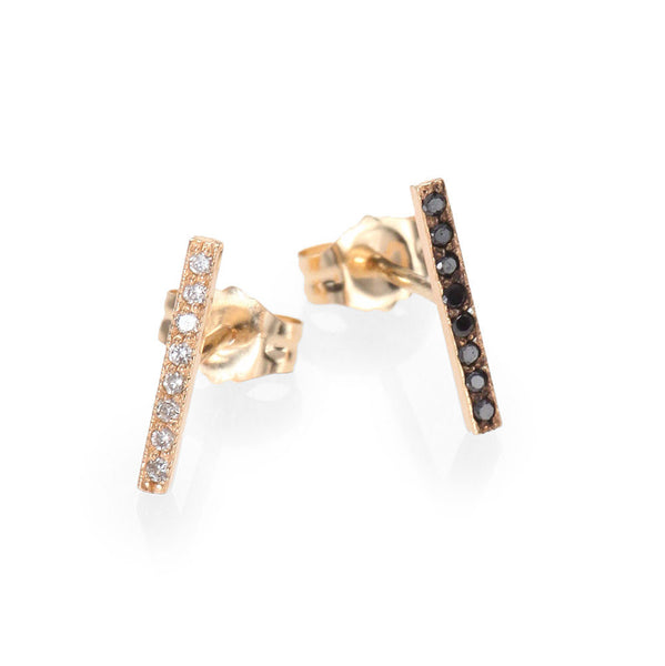 Zoe Chicco Black + White Diamond Bars