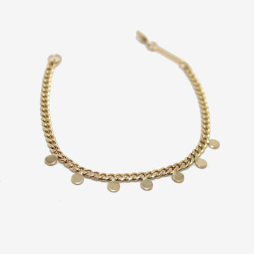 Zoe Chicco 14k Curb Chain Disc Bracelet