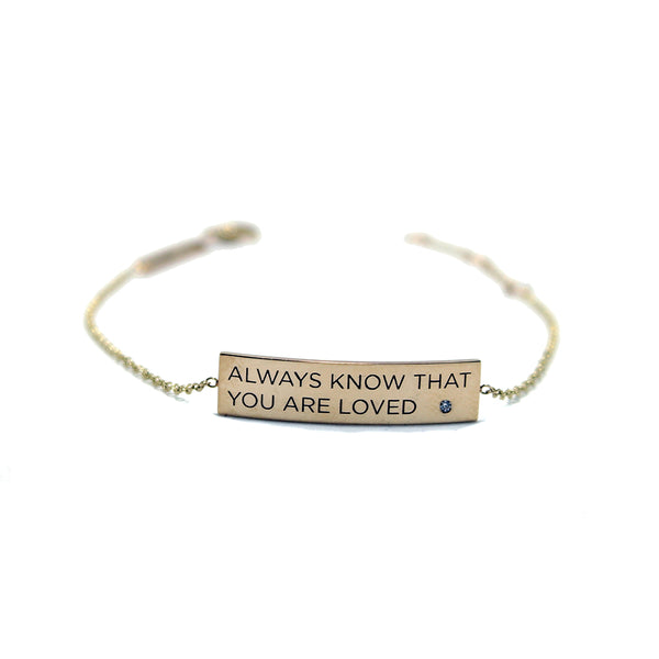 Zoe Chicco 14k 'Loved' ID Bracelet