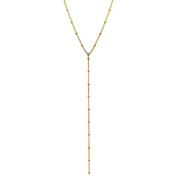 Zoe Chicco 14k Satellite Lariat Necklace