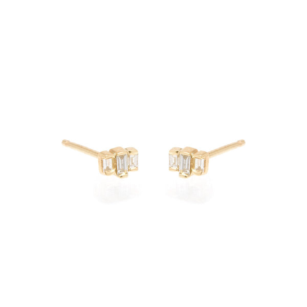 Zoe Chicco 14k Baguette Diamond Earrings