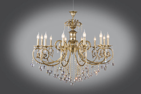 Gold plated chandeliers floba home goods gold plated chandelier aloadofball Choice Image