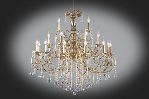 Gold plated chandelier 21 bulb floba home goods gold plated chandelier 21 bulb aloadofball Choice Image