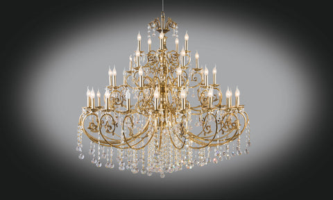 Gold plated chandelier 40bulb floba home goods gold plated chandelier 40bulb aloadofball Image collections